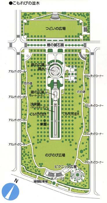 テクノ中央緑地の見取り図